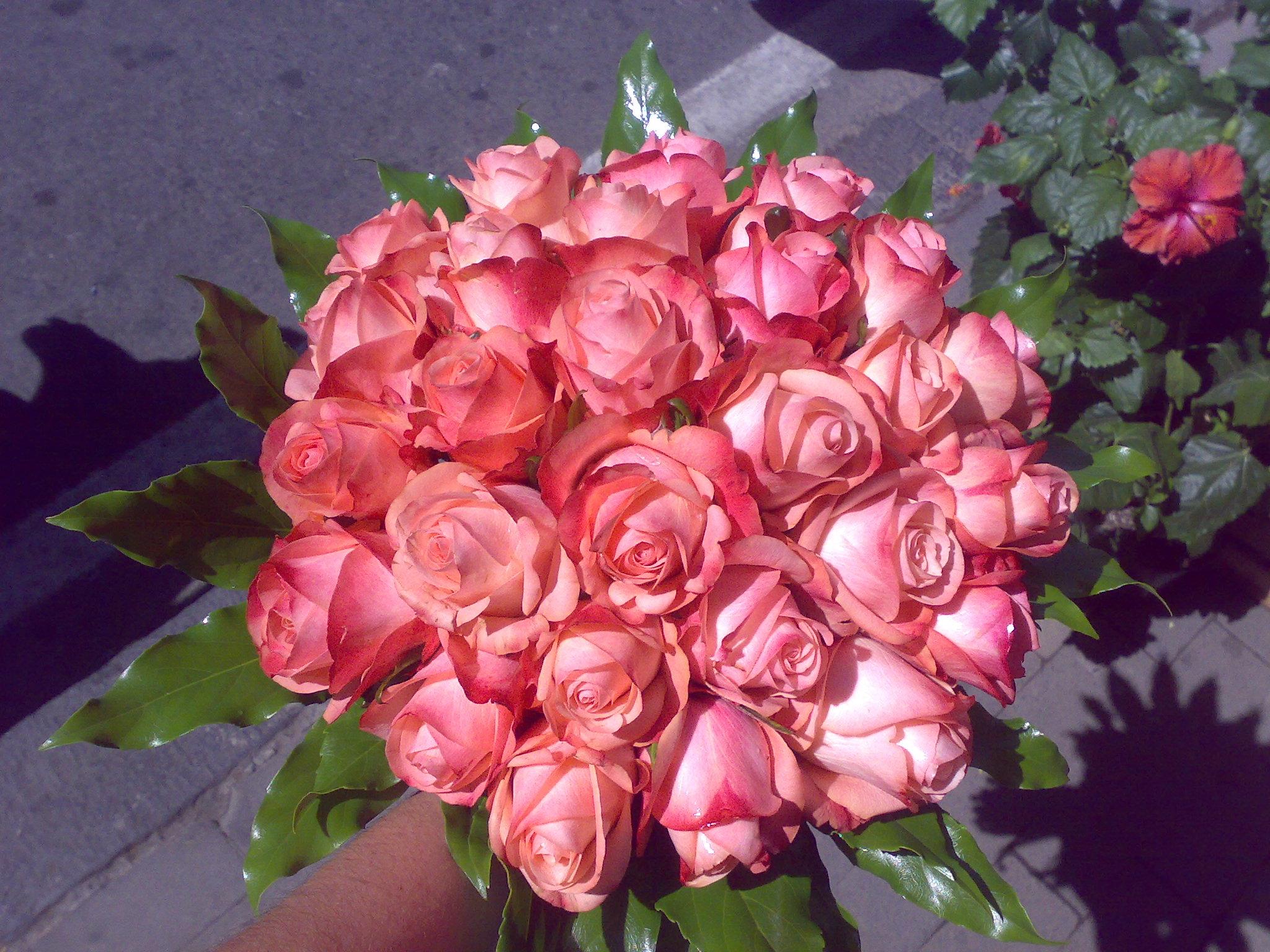 Bouquet di rose color rosa antico euro fiori sorrento for Rose color rosa antico